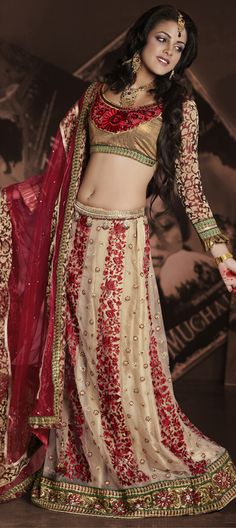 There are many ways to make your #lehenga look trendy. Wear A-line Style Lehenga for a more #elegant look.   Code-81838