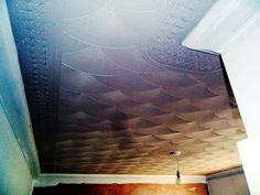 """A beautiful 'fan' drywall texture (artex) comb pattern. The initial pattern is created using a 'standard 10"""" comb tool.' Around the perimeter to create the border edging is a '3.5"""" ROSE comb & a 6.5"""" ROSE comb tool.'"""