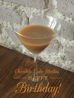 Chocolate Cake Martini Recipe / Who needs cake? / Miss Information / #chocolate #cake #martini #birthday