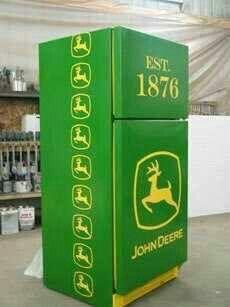 John Deere fridge...awesome!