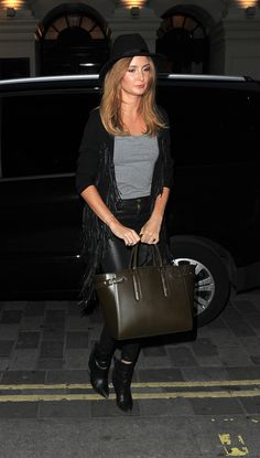 Millie Macintosh with Aspinal of London's Marylebone tote in black