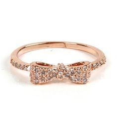 Rose Gold Mini Bow Ring