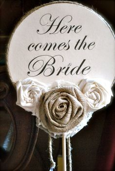 Here comes the bride double sided ring by PaperPrincessStudios, $45.00