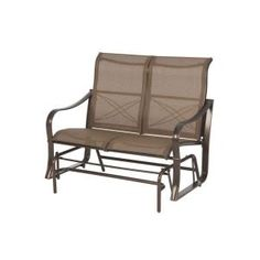 Martha Stewart Living Grand Bank Patio Double Glider-D4067-G at The Home Depot $180