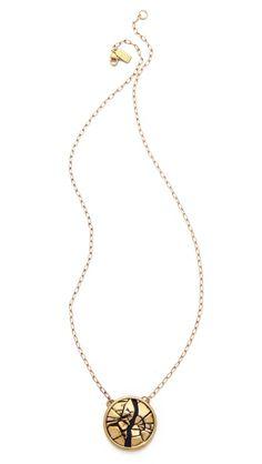 Shop now: Pamela Love Titan Medallion Pendant Necklace