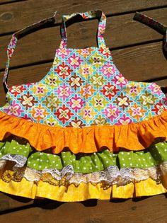 Toddler Girls Ruffled Tea Party Apron