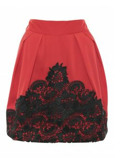 Lace Front Skirt by Whistle & Wolf at Stylistpick £40
