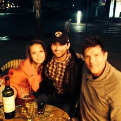 Bethany, James, and Paul having dinner in Paris :)