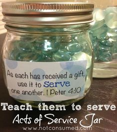 teach them to serve  Add a stone each time a good deed is done. Site has suggestions for RAKs.