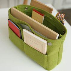 Handbag Organizer Insert Purse Pouch_invite.L FELT Bag in Bag/Out Bag