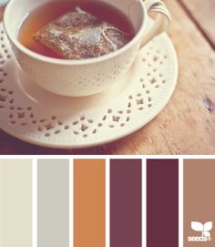 Warm and cuddly earth tone palette that is super pretty. Calming and muted. Love it.