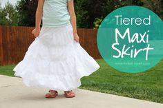 White maxi skirt for little girl
