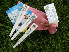 Flower garden markers with seeds. no. 2