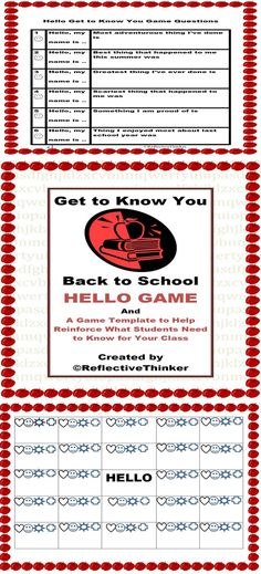 Yes, rules and procedures must be established, but imagine what it would be like to sit through several classes if not 5 or 6 where every teacher is TALKING about them. I propose a more engaging way to disseminate rules and procedures to students. This 15 page editable packet includes a Get to Know You HELLO Game and a game template to help disseminate in an engaging format for students what you would like for them to know right away to be successful in your class. For Grades 3-8