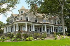 house design, dreams, dream homes, stone walls, southern homes, dream houses, wrap around porches, front porches, covered porches