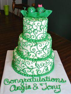 Twin baby shower cake