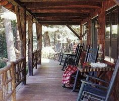 front porch with rocking chairs is a must