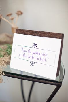 Cute bridal shower sign