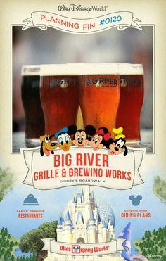 Walt Disney World Planning Pins: Big River Grille & Brewing Works
