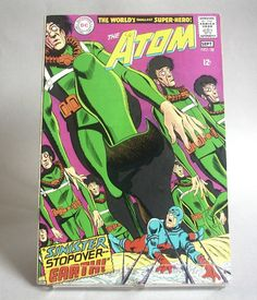 Vintage Comic Book The Atom No. 38 - Sinister Stopover -- Earth - September 1968, DC Comics