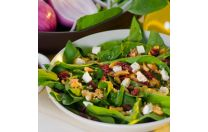 It's snack time! How about some Spinach Salad with Goat Cheese  Yes You Can! Diet Plan www.YesYouCanDietPlan.com weight watcher, weight loss, diet plans