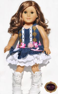 18 INCH DOLL CLOTHES DRESS FOR AMERICAN GIRL DOLLs