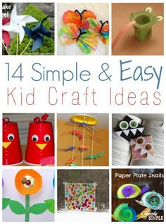 14 simpl, craft kids, around the house crafts, easy kids crafts, easy kid crafts