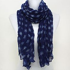 Nautical Scarf in Navy