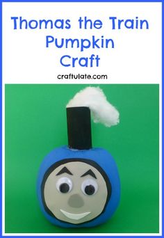 Thomas the Train Pumpkin Craft from Craftulate