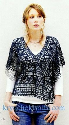 Lace tunic! Gorgeous! with diagrams!