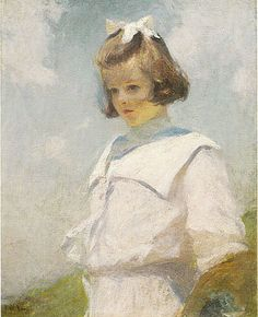 Frank Weston Benson Portrait of Elisabeth 1901
