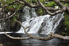 Eas Fors Waterfall, Scotland.    Eas Fors Waterfall is one of the most spectacular waterfalls on the island.