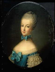 Portrait of a young Marie Antoinette, painted for the King of France to approve the match between herself and the Dauphin.