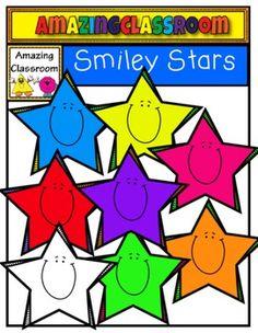 Free Smiley Stars Clip Art Set