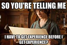 Need experience before experience