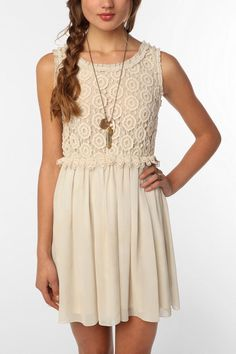Staring at Stars Crochet Top Dress  #UrbanOutfitters