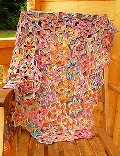Beautiful Summertime Afghan ~ Free Pattern