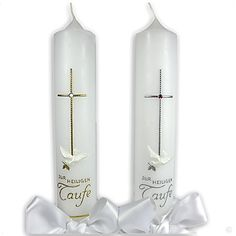 Christening candle Coria, light of new life, including labeling, christening gifts