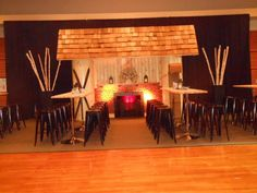 Ski Lodge Lounge for a winter themed Mitzvah celebration.