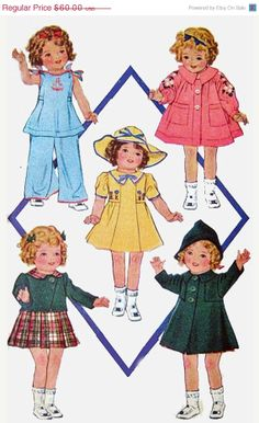 ON SALE OOP Vintage 1930s McCall 418 McCall Doll by sandritocat, $51.00