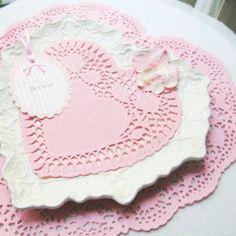 Mariage romantique napperon coeur rose