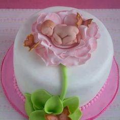 """""""Thumbelina"""" baby shower cake! - from Stylish Eve"""