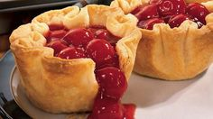 Quick and easy cherry  pie from Pillsbury.  so so simple