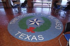 Custom Logo Rug made for the City of El Paso Texas