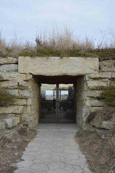 Entrance Holy Family Shrine NE  Garden Travel:  Nebraska