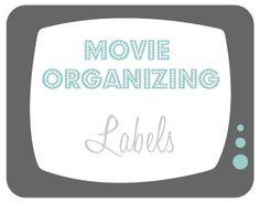 Free: DVD/Blu-Ray Organizing Labels