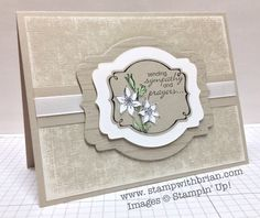 Really beautiful layering of the Deco Labels Framelits - You're Lovely, Petite Pairs, Stampin' Up!, Brian King,TCC2