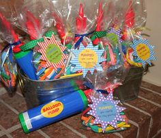 """These have to be the cutest party favors EVER!!! """"I'm pumped you came to my party!"""" Love. It."""