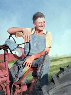 Fred Neveu, The Farmer Painting
