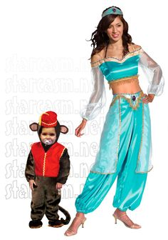 Send your teen out as Jasmine! And if she is baby sitting Halloween night... Bring Abu along too!!